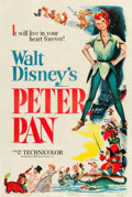 "Movie Posters:Animation, Peter Pan (RKO, 1953). One Sheet (27"" X 41"").. ..."