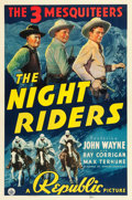 "Movie Posters:Western, The Night Riders (Republic, 1939). One Sheet (27"" X 41"").. ..."