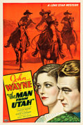 "Movie Posters:Western, The Man from Utah (Monogram, 1934). One Sheet (27"" X 41"").. ..."