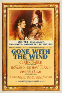 "Gone with the Wind (MGM, 1940). One Sheet (27"" X 41"") Style CF. Academy Award Winners"
