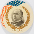 Political:Pinback Buttons (1896-present), William McKinley: Large Picture Pin....