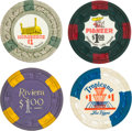 Miscellaneous:Gaming Chips, Las Vegas Casino Chips: Quartette of Four $1 Chips. ... (Total: 4 Items)