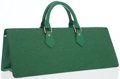 Luxury Accessories:Bags, Louis Vuitton Green Epi Leather Sac Triangle Bag. ...