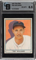 Baseball Cards:Singles (1940-1949), 1941 Play Ball Ted Williams #14 GAI EX-MT+ 6.5....