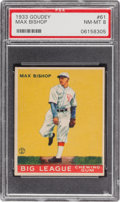 Baseball Cards:Singles (1930-1939), 1933 Goudey Max Bishop #61 PSA NM-MT 8 - Only One Higher! ...