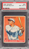 Baseball Cards:Singles (1930-1939), 1933 Goudey Taylor Douthit #40 PSA NM-MT 8 - Two Higher! ...