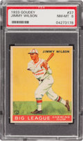 Baseball Cards:Singles (1930-1939), 1933 Goudey Jimmy Wilson #37 PSA NM-MT 8 - Only One Higher! ...