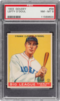 Baseball Cards:Singles (1930-1939), 1933 Goudey Lefty O'Doul #58 PSA NM-MT 8 - Two Higher! ...