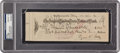 Autographs:Checks, 1932 Ty Cobb Signed Check to the Internal Revenue Service, PSA/DNAGem Mint 10....