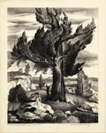 Texas:Early Texas Art - Drawings & Prints, CHARLES BOWLING (1891-1995). Cedar and Whiterock, 1938.Lithograph. 10 x 8 inches (25.4 x 20.3 cm). Signed lower right. ...
