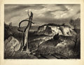 Texas:Early Texas Art - Regionalists, CHARLES BOWLING (1891-1995). White Cliffs. Lithograph. 9-1/4x 13 inches (23.5 x 33.0 cm). Signed lower right. Titled lo...