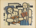 Prints:European Modern, FERNAND LÉGER (French 1881-1955). La Lecture, 1924. Color lithograph. Published by Galerie Louis Carre by Mourlet. 21-1/...
