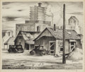 Texas:Early Texas Art - Regionalists, CHARLES BOWLING (1891-1995). Industrial Encroachment, 1939.Lithograph on paper. 10 x 12 inches (25.4 x 30.5 cm). Signed...