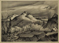 Texas:Early Texas Art - Regionalists, CHARLES BOWLING (1891-1995). Storm Lit Hills. Lithograph onpaper. 9-1/2 x 13 inches (24.1 x 33.0 cm). Signed lower righ...