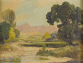Paintings, W. FREDERICK JARVIS (1898-1966). Untitled Western Landscape. Oil on canvas. 10-1/2 x 14-1/2 inches (26.7 x 36.8 cm). Signed ...