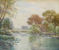 Works on Paper, JULIAN ONDERDONK (1882-1922). Untitled. Watercolor on paper. 10-1/2 x 12-1/2 inches (26.7 x 31.8 cm). Signed lower right. ...