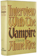 Books:First Editions, Anne Rice: Interview with the Vampire (New York: Alfred A.Knopf, Inc., 1976), first edition, 372 pages, black paper boa...(Total: 1 Item)