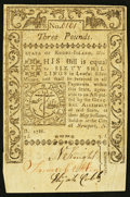 Colonial Notes:Rhode Island, Rhode Island May 1786 £3 Extremely Fine+.. ...