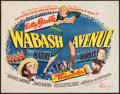 "Movie Posters:Musical, Wabash Avenue (20th Century Fox, 1950). Half Sheet (22"" X 28""). Musical.. ..."