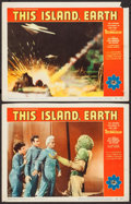 """Movie Posters:Science Fiction, This Island Earth (Universal International, 1955). Lobby Cards (2)(11"""" X 14""""). Science Fiction.. ... (Total: 2 Items)"""