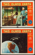 "Movie Posters:Science Fiction, This Island Earth (Universal International, 1955). Lobby Cards (2)(11"" X 14""). Science Fiction.. ... (Total: 2 Items)"