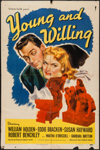 """Young and Willing (United Artists, 1943). One Sheet (27"""" X 41""""). Comedy"""