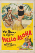 "Movie Posters:Animation, Hello Aloha (RKO, 1952). One Sheet (27"" X 41""). Animation.. ..."