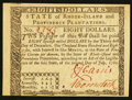 Colonial Notes:Rhode Island, Rhode Island July 2, 1780 $8 Extremely Fine.. ...