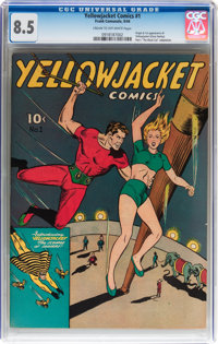 Yellowjacket Comics #1 (Frank Comunale, 1944) CGC VF+ 8.5 Cream to off-white pages