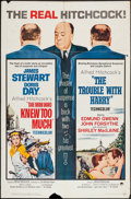 """Movie Posters:Hitchcock, The Trouble with Harry/ Man Who Knew Too Much Combo (Paramount,R-1963). One Sheet (27"""" X 41""""). Hitchcock.. ..."""