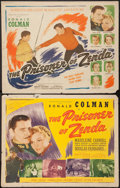 "Movie Posters:Swashbuckler, The Prisoner of Zenda (Casanave-Artlee, R-1940s). Half Sheets (2) (22"" X 28"") Styles A & B. Swashbuckler.. ... (Total: 2 Items)"