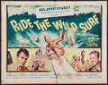 """Movie Posters:Sports, Ride the Wild Surf (Columbia, 1964). Half Sheet (22"""" X 28""""). Sports.. ..."""
