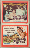 "Movie Posters:War, So Proudly We Hail (Paramount, 1943). Half Sheets (2) (22"" X 28"")Styles A and B. War.. ... (Total: 2 Items)"