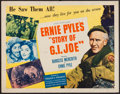 "Movie Posters:War, The Story of G.I. Joe (United Artists, 1945). Half Sheet (22"" X28"") Style B. War.. ..."