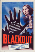 "Movie Posters:Adventure, Blackout (United Artists, 1940). One Sheet (27"" X 41""). Adventure....."