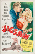 "Movie Posters:Crime, Jigsaw (United Artists, 1949). One Sheet (27"" X 41""). Crime.. ..."