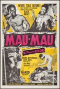 "Movie Posters:Documentary, Mau-Mau (Rock-Price Productions, 1955). One Sheet (27"" X 41""). Documentary.. ..."