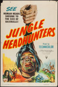 "Movie Posters:Documentary, Jungle Headhunters (RKO, 1951). One Sheet (27"" X 41""). Documentary.. ..."