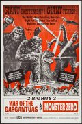 """Movie Posters:Science Fiction, War of the Gargantuas/Monster Zero Combo (UPA, 1966). One Sheet (27"""" X 41""""). Science Fiction.. ..."""