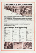 """Movie Posters:Fantasy, When Dinosaurs Ruled the Earth (Warner Brothers, 1970). Poster (40""""X 60"""") """"Caveman's Dictionary"""" Style. Fantasy.. ..."""
