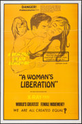 """Movie Posters:Adult, A Woman's Liberation (Unknown, 1970s). One Sheet (28"""" X 42""""). Adult.. ..."""