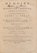 Books:Biography & Memoir, Maximilian de Bethune. Memoirs of Maximilian de Bethune, Duke of Sully. Millar, 1761. Third edition. From the ... (Total: 3 Items)