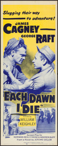 "Movie Posters:Crime, Each Dawn I Die (Dominant, R-1956). Insert (14"" X 36""). Crime.. ..."