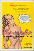 """Movie Posters:Sexploitation, Hideout in the Sun (Wica Pictures, 1960). One Sheet (27"""" X 41"""").Sexploitation.. ..."""