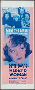 "Movie Posters:Crime, Marked Woman (Dominant Pictures, R-1956). Insert (14"" X 36""). Crime.. ..."
