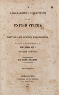 Books:Americana & American History, John Melish. A Geographical Description of the UnitedStates. Melish, 1816. First edition. Lawrence Washington...