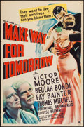 "Movie Posters:Drama, Make Way for Tomorrow (Paramount, 1937). One Sheet (27"" X 41"").Drama.. ..."