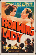 "Movie Posters:Adventure, Roaming Lady (Columbia, 1936). One Sheet (27"" X 41""). Adventure....."