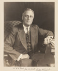 Autographs:U.S. Presidents, Franklin D. Roosevelt Inscribed Photograph Signed, circa1930s....