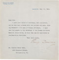 Autographs:Military Figures, George Dewey Typed Letter Signed ....